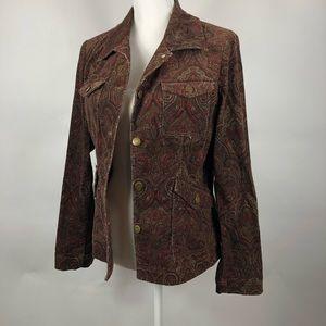 Jones New York Paisley Jacket/Blazer size Medium
